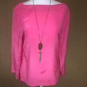 Trina Turk Pink Silk Top, size S/M